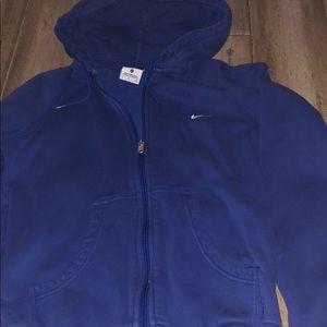 Nike hoodie zip up blue/purple ladies small